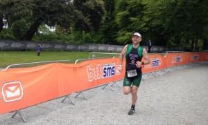The triathlete Diarmuid Spelman running