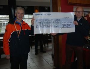Dublin University Ladies Hockey Club pledging to the Obsessed Hockey Fundraiser
