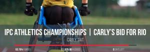 Carly Tait, British Wheelchair Racer, Rio 2016 Paralympics Fundraiser