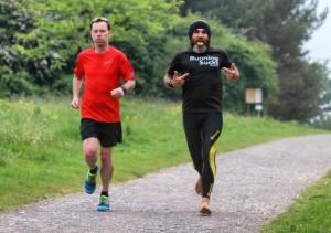 Crowdfunding Ultra Runners Barefoot Aleks and JimGump meet at Parkrun