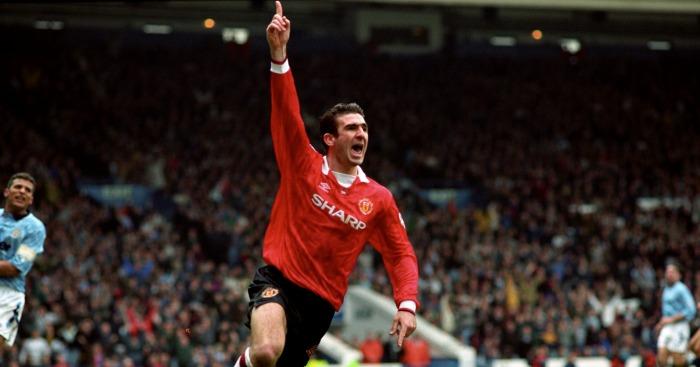 Eric Cantona, Manchester United celebrates scoring