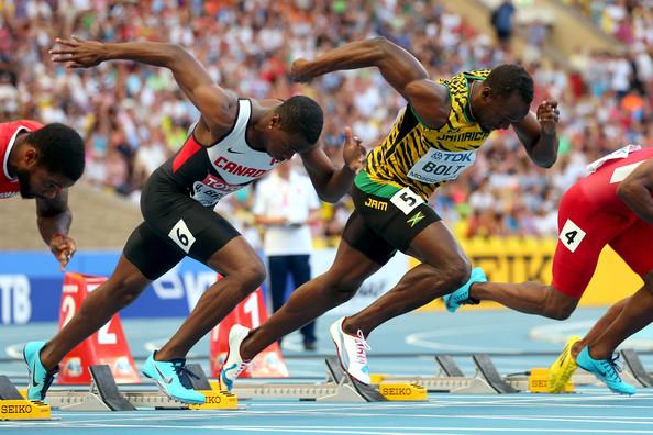 Usain+Bolt+Aaron+Brown+14th+IAAF+World+Athletics+mrr48CSDCCil